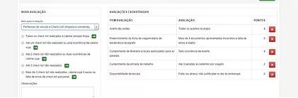 Programa de Remuneração Variável - Itens Configuraveis